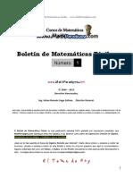 Boletin de MathParadigma.com