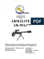 ArmaLite AR-50 Sniper Rifle Manual