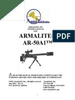 ArmaLite AR-50 Sniper Rifle Manual