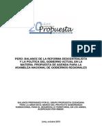 (2013) Propuesta Ciudadana - Balance Del Estado Del Arte de La Descentralización