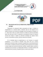 Pagina Web Diplomado Mercadeo