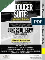 The Producer Suite Summer Program Deck 2014