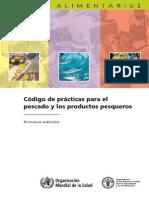 Codigo de Practicas Para El Pescado y Los Productos Pesqueros