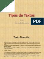 Tipos de Texto - Gonzalo Escalona Gallardo