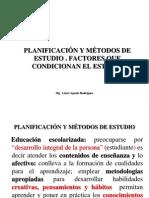 Planificacion- Metodos de Estudio