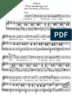 [Sheet] Gilbert & Sullivan - The Pirates of Penzance - Poor Wandering One