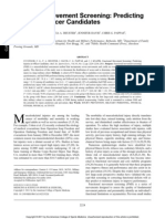 Med Sci Sports Exerc 2011;43 - FMS and Predicting Injury in Military Officer Candidates
