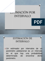 Estimación Por Intervalo