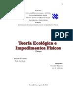 Teoria Ecologica e Impedimentos Motores1