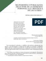Escritura Femenina y Publicación en El XVIII