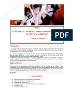 Coaching y Liderazgo Como Herramientas Para La Gestion Moderna