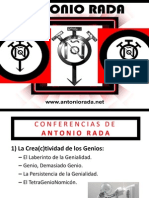 Carpeta de Conferencias Disponibles y Precios de Antonio Rada 2014