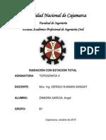 Informe Radiacion Estacion Total