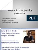 Coaching and Leadership Principles for Professors