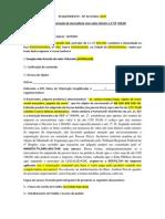 REQUERIMENTO Revisão Imposto Modelo de 50U$