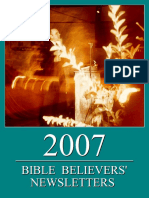 Bible Believers' Newsletters 2007
