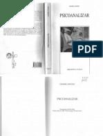 Anzieu, Didier - Psicoanalizar - Ed. Biblioteca Nueva