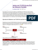 Ejercicio de Subneteo Con VLSM de Una Red Clase a - Calcular Máscara Variable