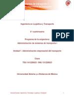 Unidad 1. Administracion Empresarial Del Transporte