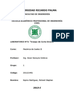 3er Laboratorio-Ensayo de Corte Directo- Espino Rodríguez Richard 201121481