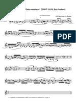 Bach Johann Sebastian Siciliano From Flute Sonata
