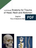 Clinical Anatomy for Trauma