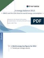 World Energy Balance 2013 Enerdata