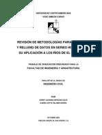 Revision de Metodologias Para Extension y Relleno de Datos en Series Historicas y Su Aplicacion a Los Rios de El Salvador
