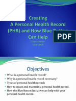 creating a personal health record and how blue button can help