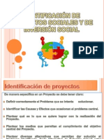 Identificación de Proyectos Sociales y de Inversión Social (1)