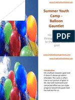 Summer Youth Camp - Balloon Gauntlet