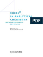 Excel for Analytical Chemistry
