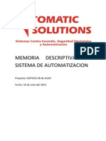 Memoria Descriptiva Sistema Auto