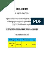Briefing Hasil Proposal Skripsi Ganjil 2014- Alsut