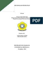 COVER TGS Metodologi Penelitian