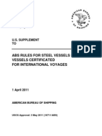 Abssvr0532011 ABS Rules for Steel Vessel for Vessel Certificated for International Hand Book