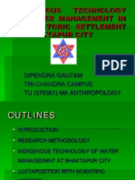 Indigenous Technology of Water Management