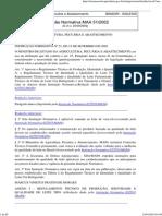 Instrução Normativa MAA 51-2002