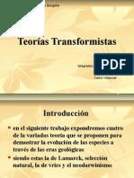 Teorías Transformistas