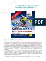 Mechanics 1 for JEE