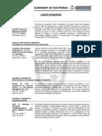Summary of Doctrines Labor Law