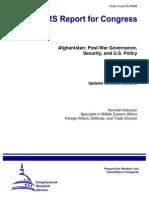 Afghanistan Post War Governance..