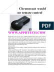 Times Chromecast Would Eliminate Remote Control