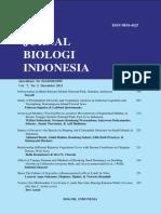 Jurnal Biologi Indonesia