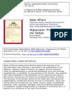 Progress Since Taliban Final
