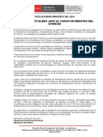 DANIEL URRESTI ELERA JURÓ AL CARGO DE MINISTRO DEL INTERIOR