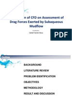 Application of CFD on Assessment of Drag Forces Exerted by Subaqueous Mudflow