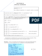 Student Lecture 30 Special Matrices