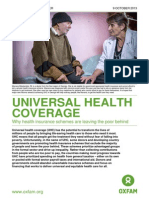 Universal Health Coverage - Oxfam