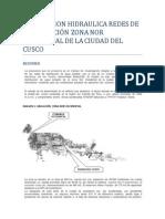Modelacion Hidraulica Redes de Distribución Zona Nor Occidental de La Ciudad Del Cusco